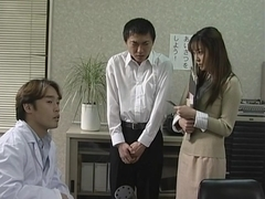 Sexy teacher Manami Suzuki gets creampied in a threesome