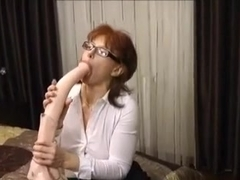 Milf huge dildo anal ends with huge prolapse
