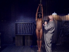 Full Throttle - Ebony Babe Suffers Beautifully