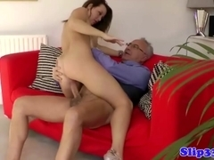 Classy british babe fucking old cock
