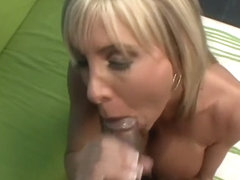 Busty slender blonde Misty Vonage knows how to satisfy a horny dude