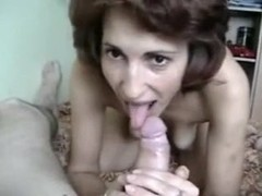 Exposed Mature Romanian Wife Sucks Jock