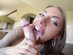 My jizz on Juelz Ventura's pretty face!
