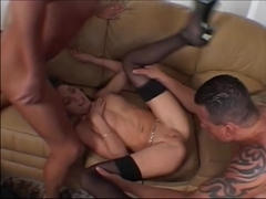 Brittany Double Teamed By Two Hung Dudes