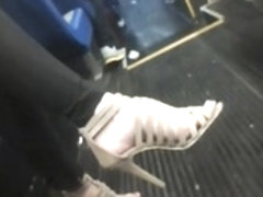 Fuckable feet on the bus to work. Vid 1
