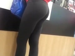Nice ass girl in black leggings