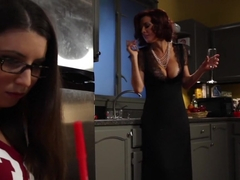 Crazy fetish, lesbian adult scene with exotic pornstars Serena Blair and Veronica Avluv from Footw.