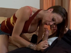 Horny and wet chick Mckenzie Lee will show the young dude how to get orgasm
