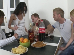 Young Sex Parties - Promesita - Adina - Teens fucking three-on-two