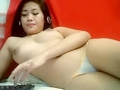 THAI ANGEL WITH LARGE WOBBLERS DOING LIVECAM SHOW