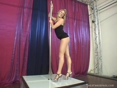 Blond Stripper Pumps Cock With Her Feet