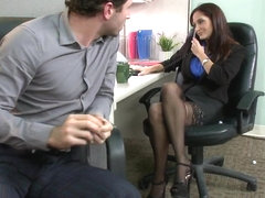 MILF with a tiny body and HUGE tits Gangbanged by Co Workers