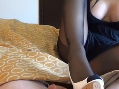 Alexis Grace Gives another Nylon Footjob