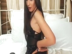 Perfect Ass Brunette Pounds Her Bloke With Stockings On