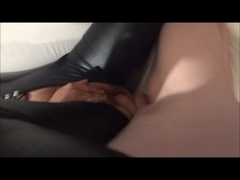 Shiny Catsuit with Ejaculation