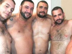 Spanish Bears Bukkake Gangbang - BearFilms